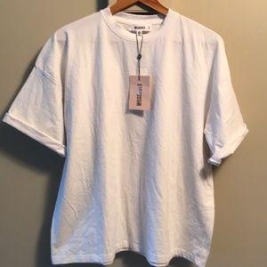 Missguided oversized drop shoulder white tshirtNWT